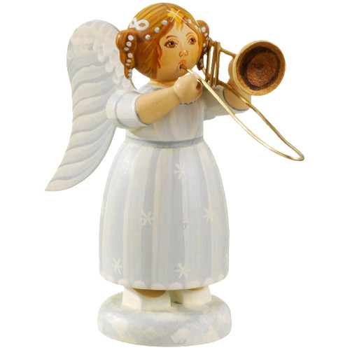 White Dress Angel with Trombone