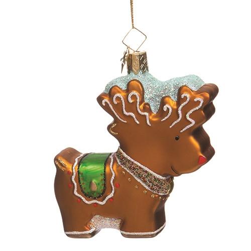 Glistening Gingerbread Reindeer