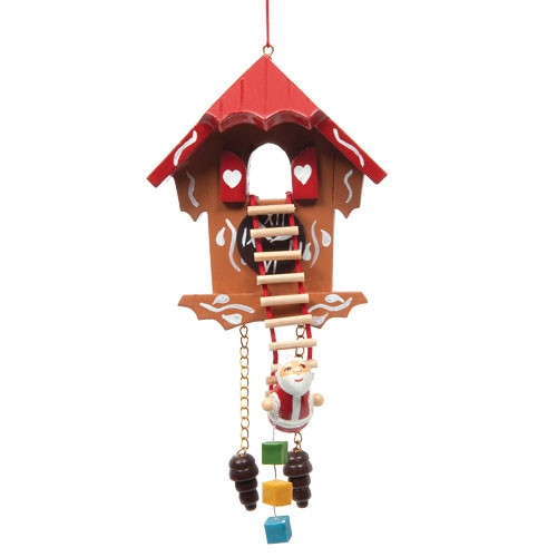 Cuckoo Clock with Santa on Ladder