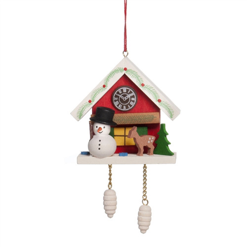 Cuckoo Clock with Snowman
