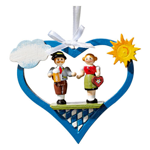 Bavarian Dancers in Heart