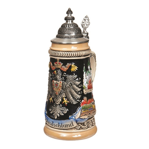 German Cities Beer Stein
