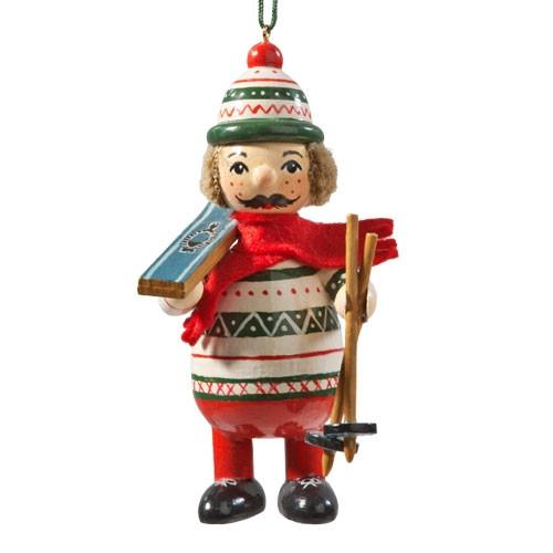 Buddy Skier Wood Buddy Ornament