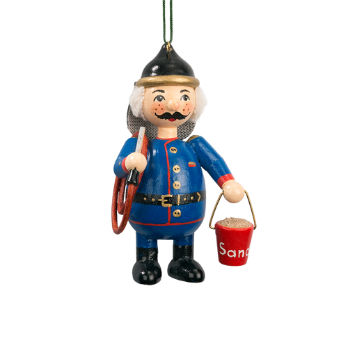 Holzbuddy Fireman Wood Ornament