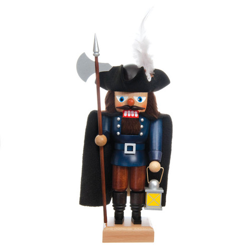 Blue Night Watchman Stands Guard Nutcracker