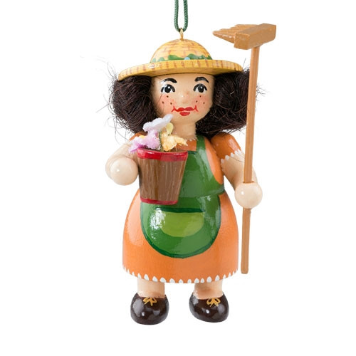 Gardener with Flowers Wood Buddy Ornament