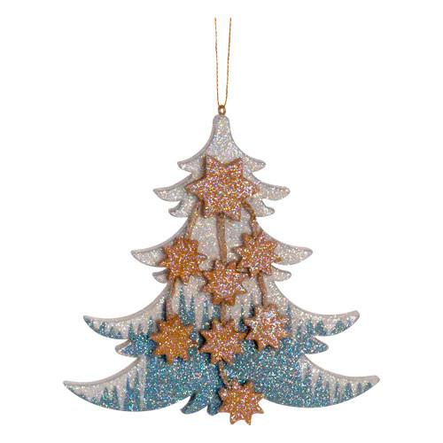 Frosty Tree with Stars