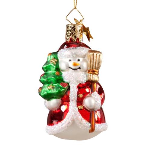 Snowman Dressed as Santa