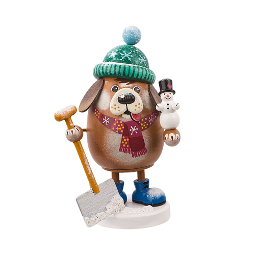 Winter Dog with Shovel Smoker
