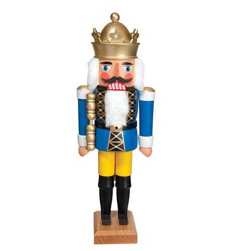 """King Blue 14"""" Nutcracker"""