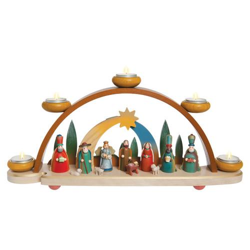 Gift Giver Star Over Bethlehem Schwibbogen