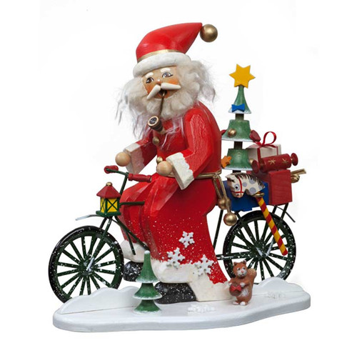 Santa Delivers Toys by Bicycle Smoker