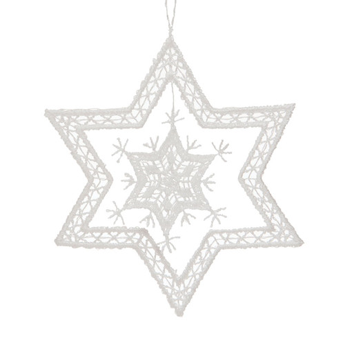 Star Snowflake Linen Ornament