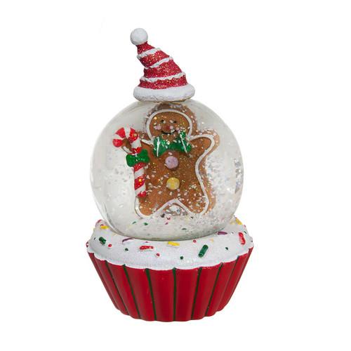 Gingerbread Muffin Snow Globe