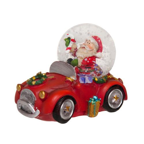 Santa with Car Snow Globe