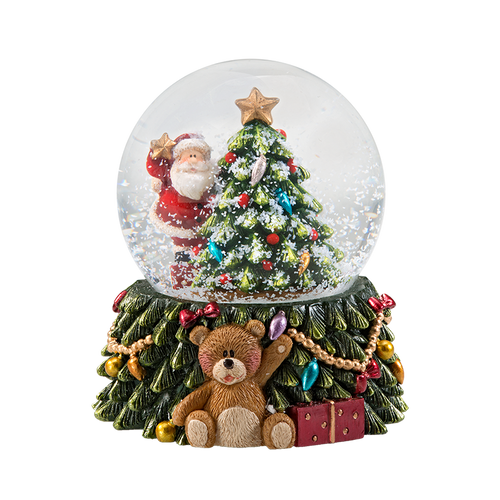 Teddies Christmas Dreams Snow Globe