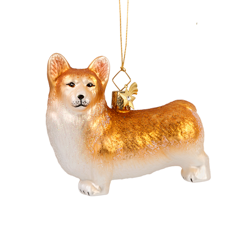 Welsh Corgi Glass Ornament