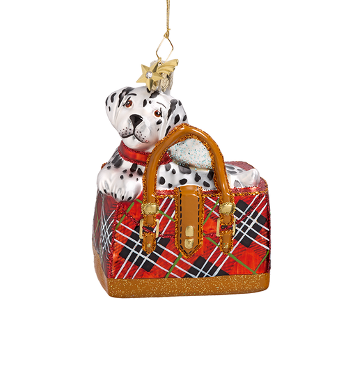 Dalmatian Pup Glass Ornament