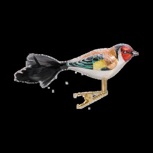 Goldfinch Bird Glass Ornament