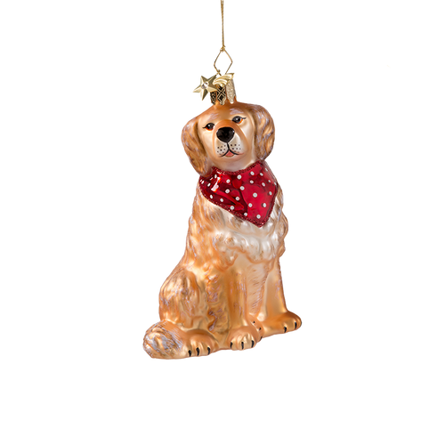 Golden Retreiver Glass Ornament