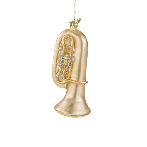 Tuba Glass Ornament