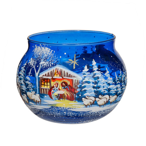 Manger Scene Glass Bowl