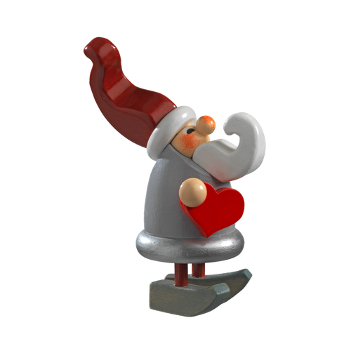 Christmas Elf with Heart Figure