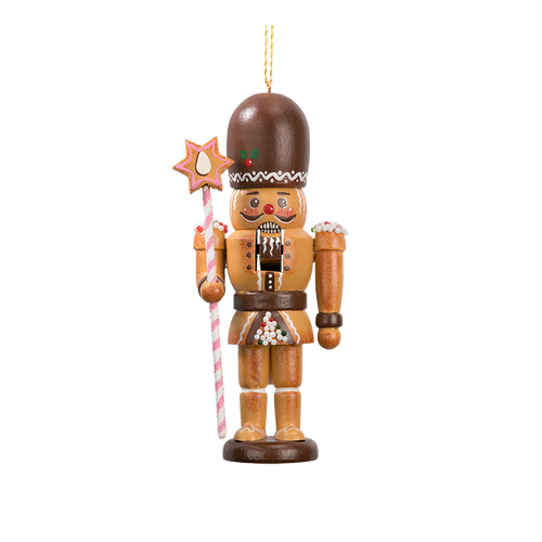 Gingerbread Nutcracker with Staff Nutcracker
