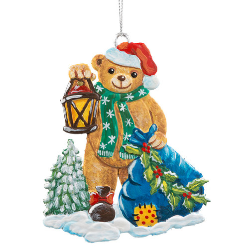 Chirstmas Bear Pewter Ornament