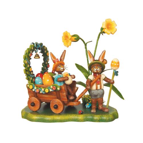 Bunnies on Spring Meadow Figurine