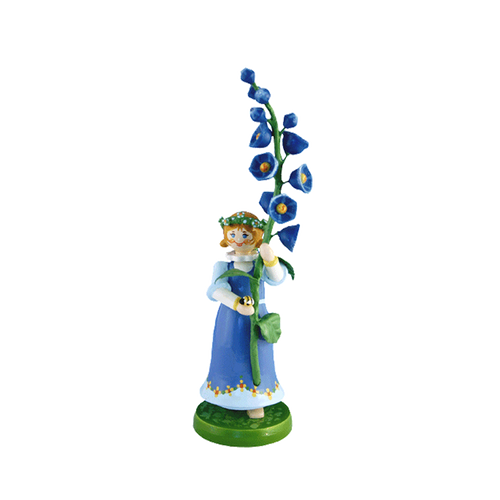 Wood Flowerchild Monkshood Figurine