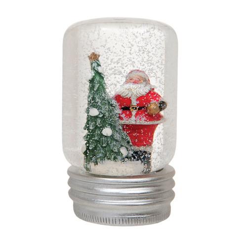 Santa Snow Globe Jar