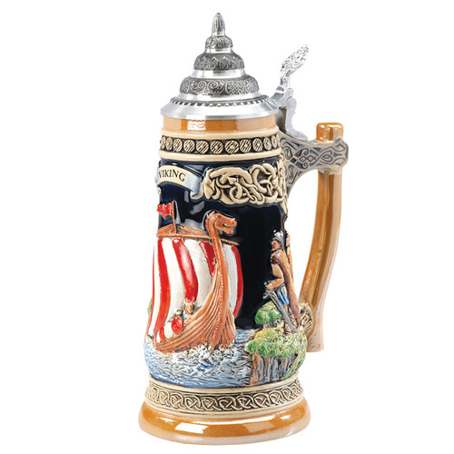 Viking Ship Beer Stein