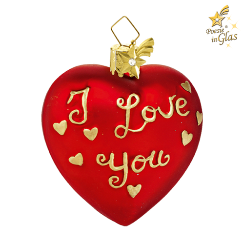 Gold I Love You Heart