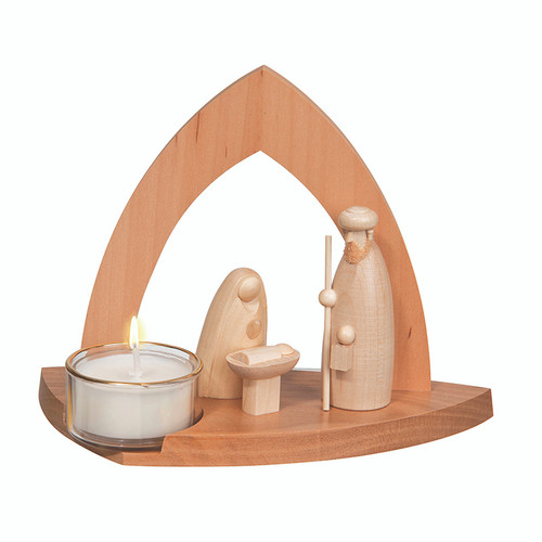 Natural Holy Family with Tealight