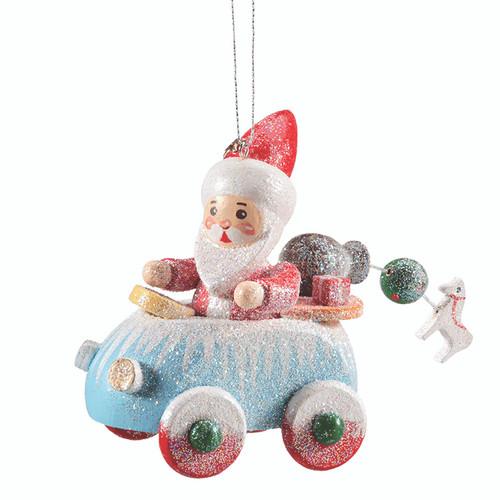 Frosty Car with Santa