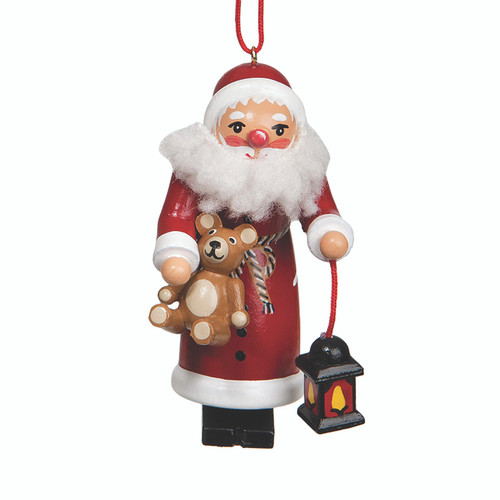 Santa with Teddy and Lantern