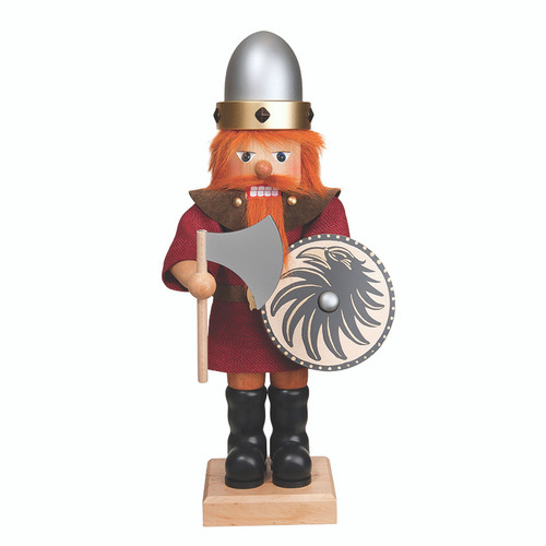 Viking Nutcracker in Red