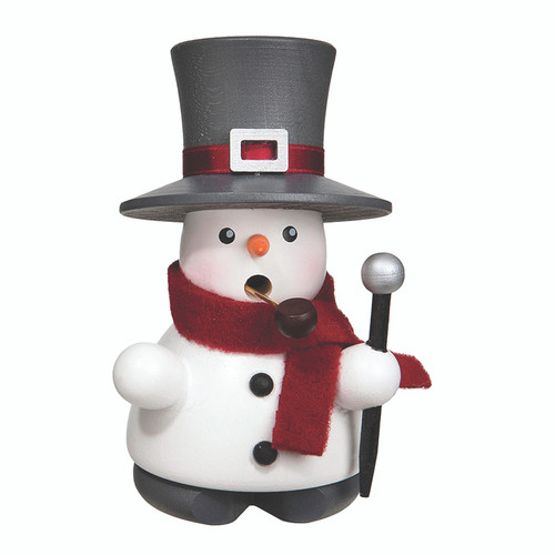 Snowman with Walking Stick