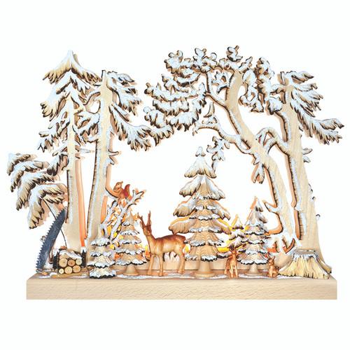 Snowy Forest Animals