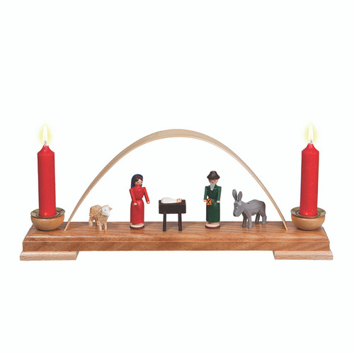 Nativity Candleholder Painted