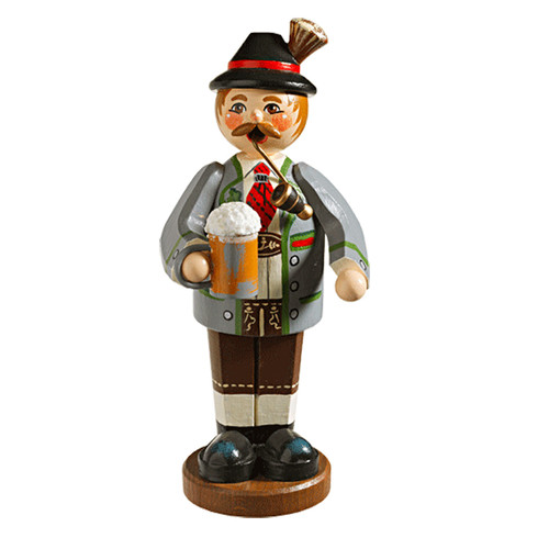 Bavarian Man with Mug and Pipe