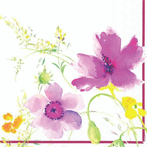 Purple Flower Napkins