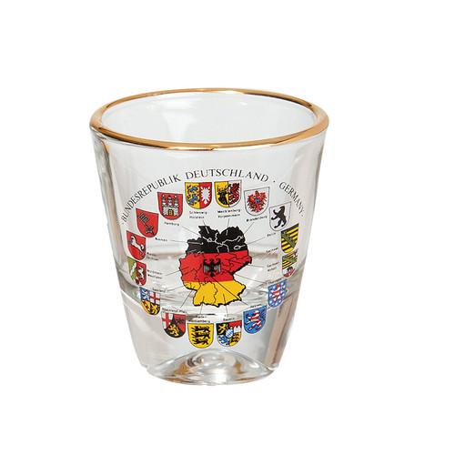 German Cities Shot Glass