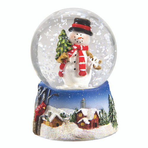 Snowman with Snowy Scenes