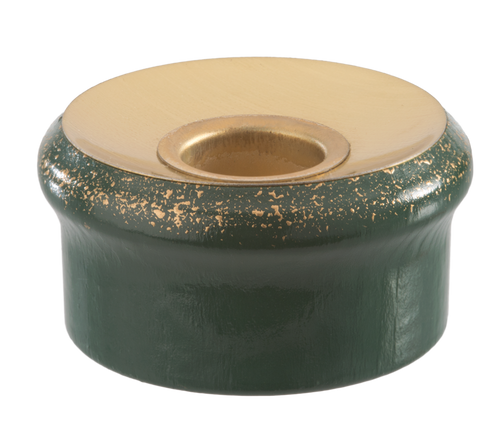 Candle-Holder Green and Gold