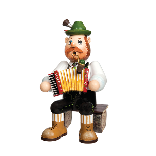 Bavarian Musician on Bench