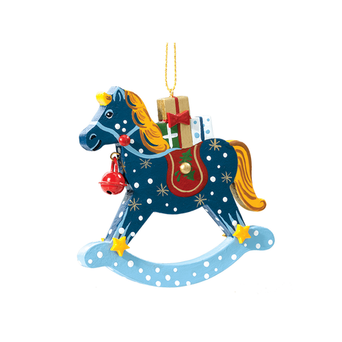 Winter Rocking Horse with Toys