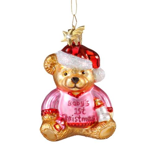 Baby's First Christmas Bear - Girl
