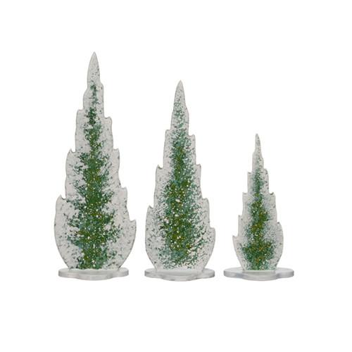Winter Cypress Trees Set of Three
